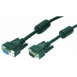 icecat_LogiLink VGA Cable ST BU black 2x Ferrit Core 5M, CV0006
