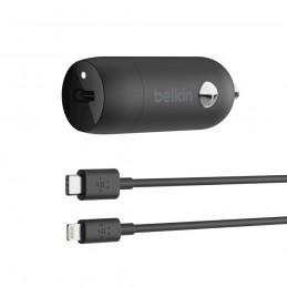 icecat_BELKIN 20W USB-C Kfz-Ladegerät USB-C Lightning Kabel 1.2m blk, CCA003bt04BK
