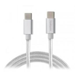 icecat_4Smarts USB-C auf USB-C Datenkabel RAPIDCord 50W 1m, weiß, 468488