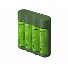 icecat_GP Battery GP ReCyko B421 210 4-Port USB Ladegerät inkl.4xAA NiMh 2100mAh, 130B421USB210AAC4