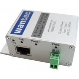icecat_Wantec 2wIP slim 2-Draht Ethernet Adapter m.PoE  Schraubklemme, 5632