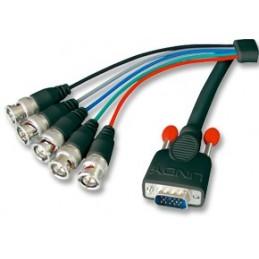 icecat_Lindy VGA Kabel 15 pol. HD Stecker BNC Stecker 1.80m, 31562