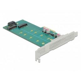 icecat_Delock PCI Express x4 Karte zu 1 x M.2 Key B + 1 x NVMe M.2 Key M, Controller, 89047