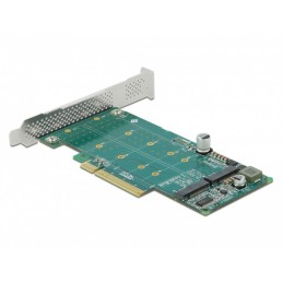 icecat_Delock PCI Express x8 Karte zu 2 x intern NVMe M.2 Key M - Bifurcation, Controller, 89045