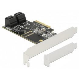 icecat_Delock 5 Port SATA PCI Express x4 Karte - Low Profile Formfaktor, Adapter, 90395